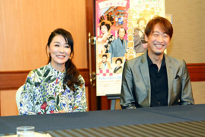 七月名作喜劇公演「紺屋と高尾」喜多村緑郎、浅野ゆう子
