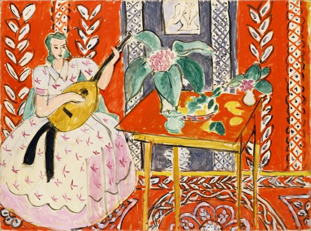アンリ・マティス《リュート》1943年 油彩/カンヴァス ポーラ美術館