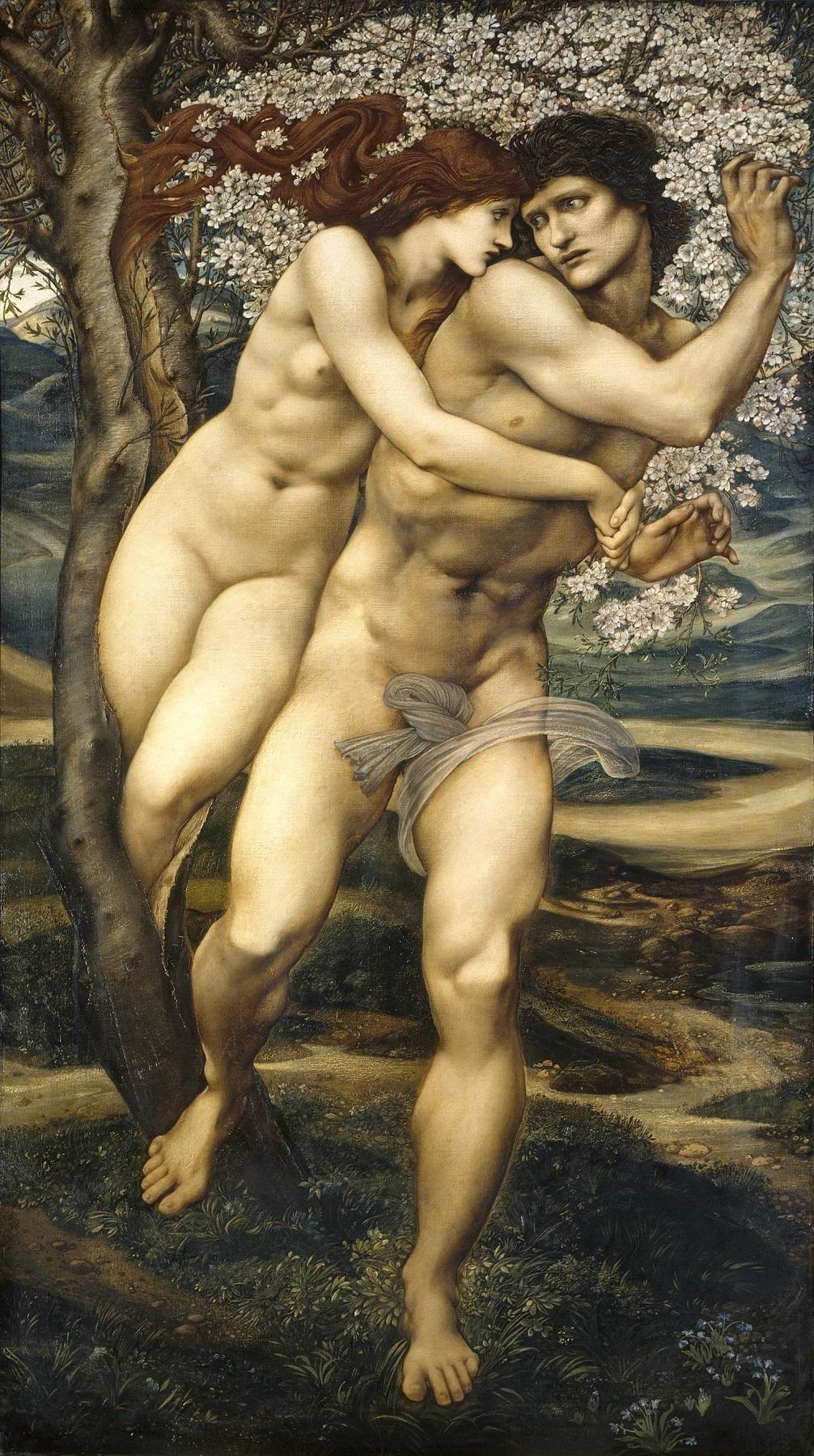 エドワード・バーン=ジョーンズ《赦しの樹》1881-82年、油彩/カンヴァス、186×111 cm、 リヴァプール国立美術館、レディ・リーヴァー・アート・ギャラリー   (C) National Museums Liverpool, Lady Lever Art Gallery