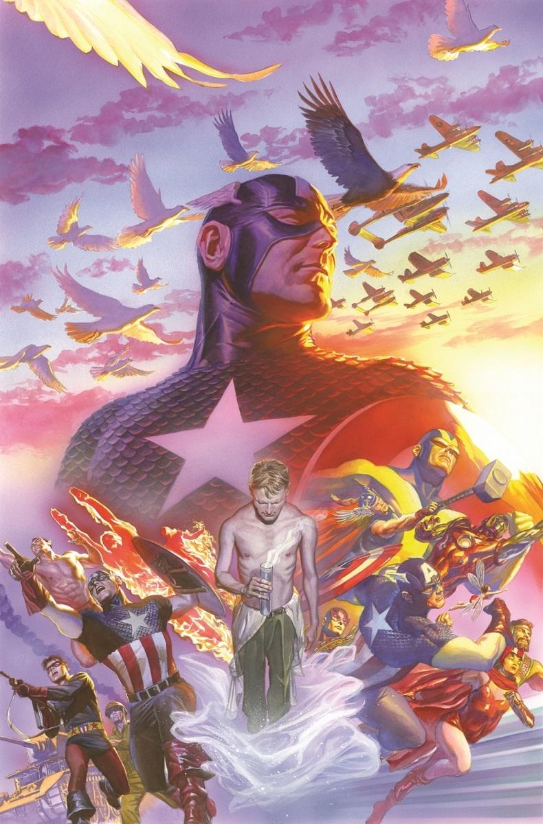 「キャプテン・アメリカ」 #22(2014年) 75周年カバー・アート © 2017 MARVEL