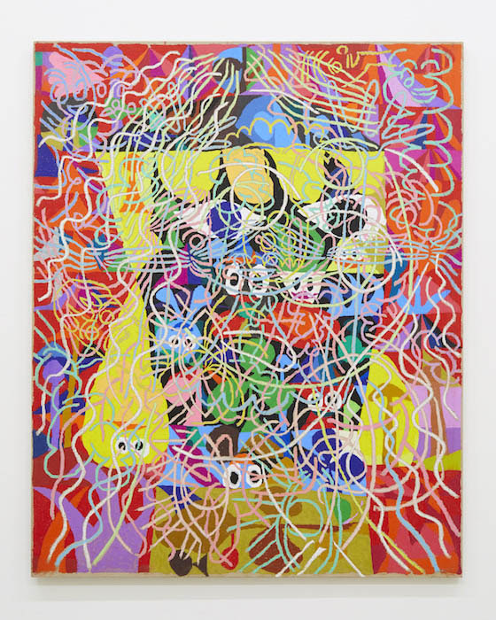 中園孔二 Koji Nakazono  Untitled, c.2012  crayon, canvas on wood panel  162.0 x 130.3 cm (C)Koji Nakazono