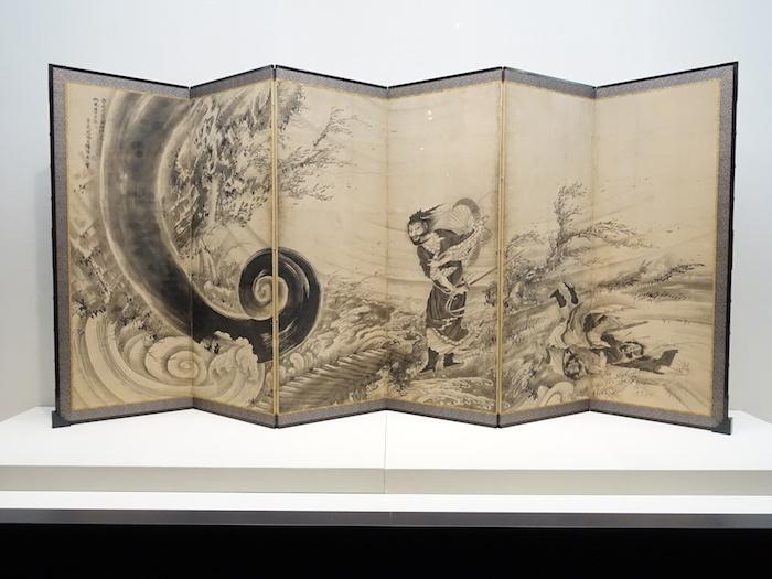 曾我蕭白《風仙図屏風》宝暦14年/明和元年(1764)頃