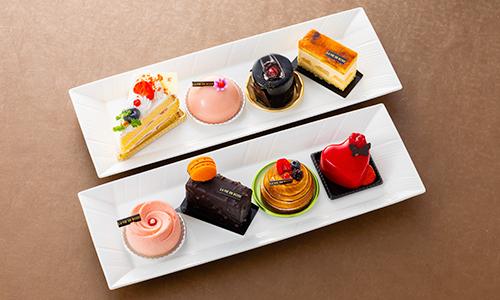 特典は「ラ・ヴィアン・ローズ」のアラカルトケーキセット ※10人部屋で10個のケーキが付きます