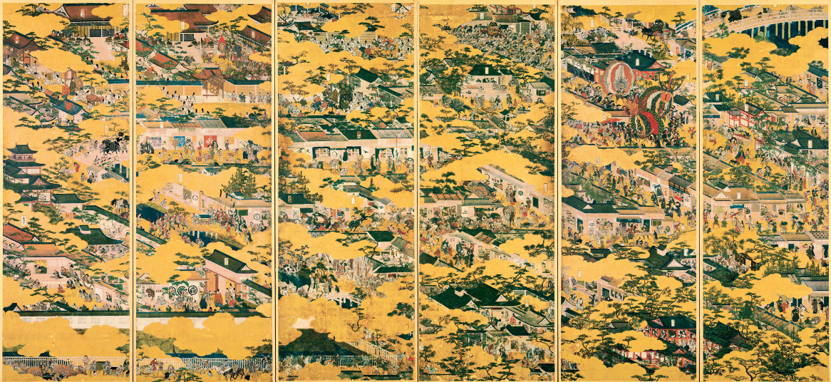 国宝 紙本金地著色洛中洛外図(舟木本) (※)左隻 東京国立博物館蔵