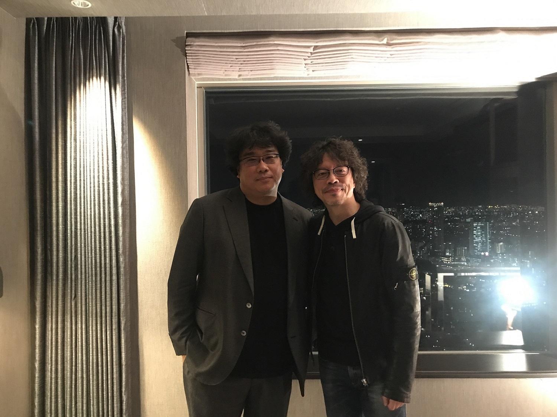 左から、ポン・ジュノ監督、浦沢直樹氏