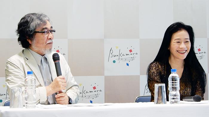(左から)平野昭、小山実稚恵