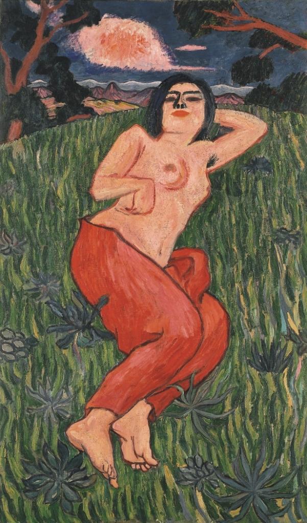 《裸体美人》1912年 油彩、画布 東京国立近代美術館 蔵 重要文化財