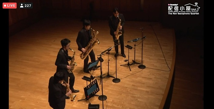 The Rev Saxophone Quartet(Streaming+より提供)