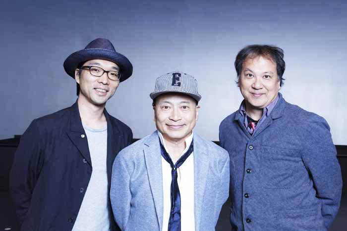 (左から)倉持裕(脚本)、ラサール石井(演出)、玉麻尚一(作曲・音楽監督)