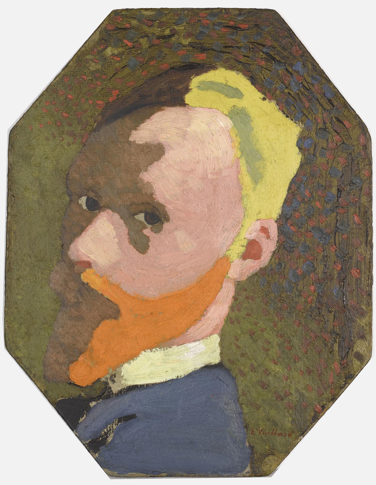 エドゥアール・ヴュイヤール 《八角形の自画像》 1890年頃 油彩/厚紙 © Musée d'Orsay, Dist. RMN-Grand Palais / Patrice Schmidt / distributed by AMF