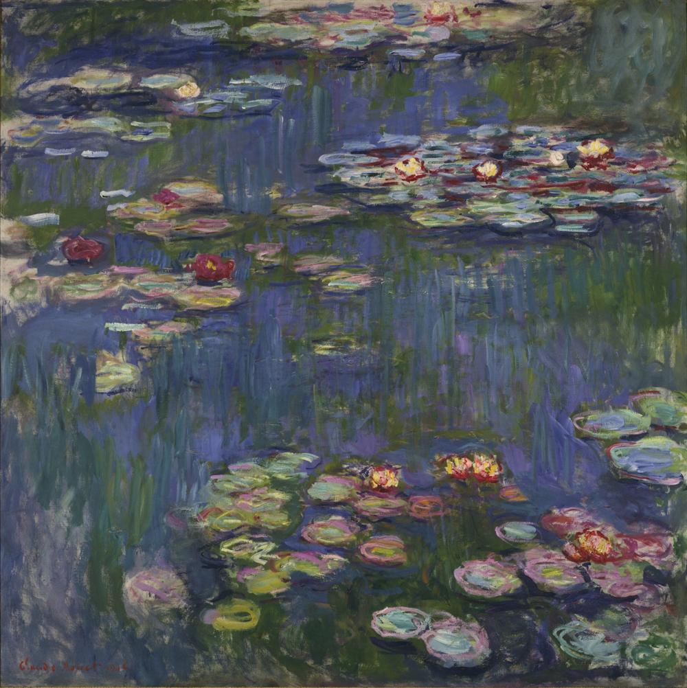 クロード・モネ《睡蓮》 1916年 油彩、カンヴァス 国立西洋美術館(松方コレクション)