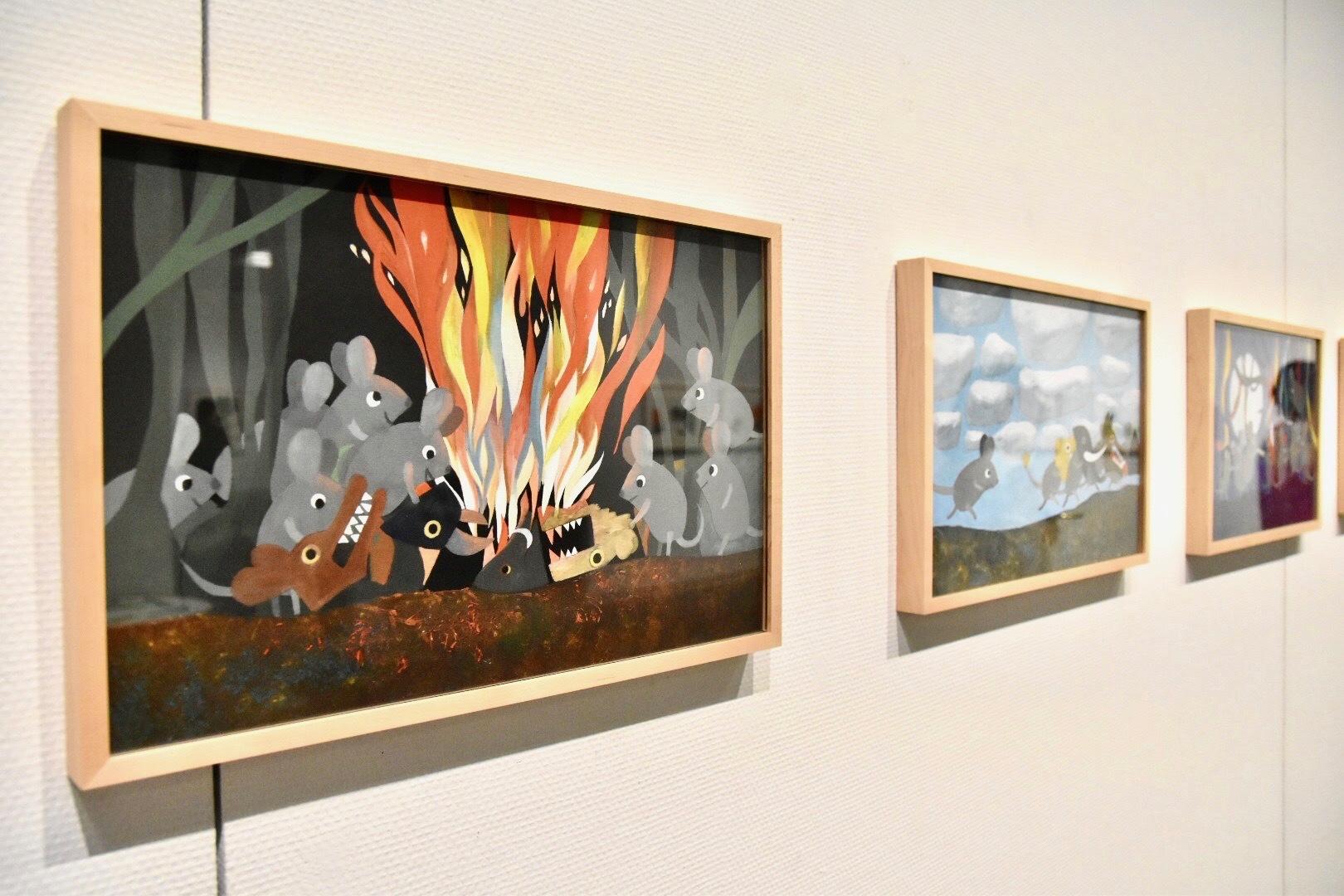 『みどりの しっぽの ねずみ』原画 1973年 アニー・レオーニ氏所蔵