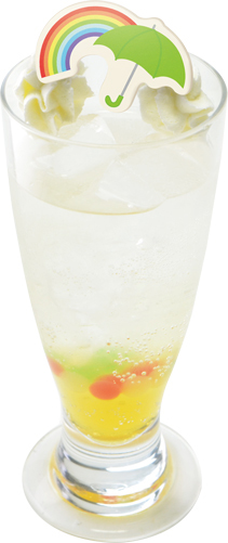 サンシャワーフェスタのマンゴーソーダ