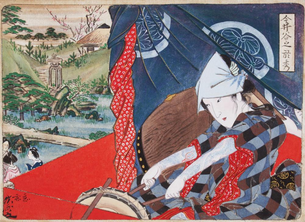 惺々狂斎画帖(二) 河鍋暁斎 一帖のうち一図 明治3年(1870)以前 河鍋暁斎記念美術館