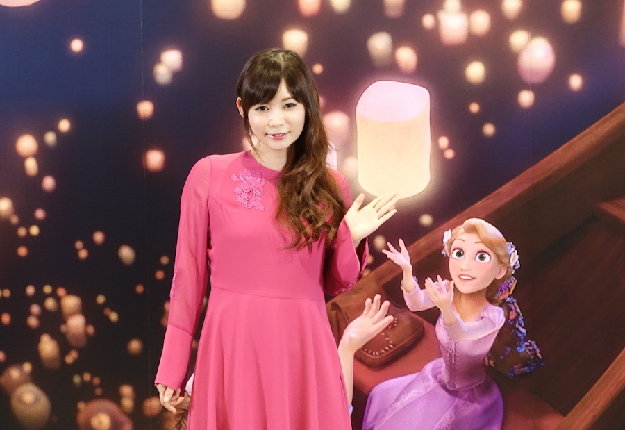 セレモニーイベントに登場した中川翔子  © Disney