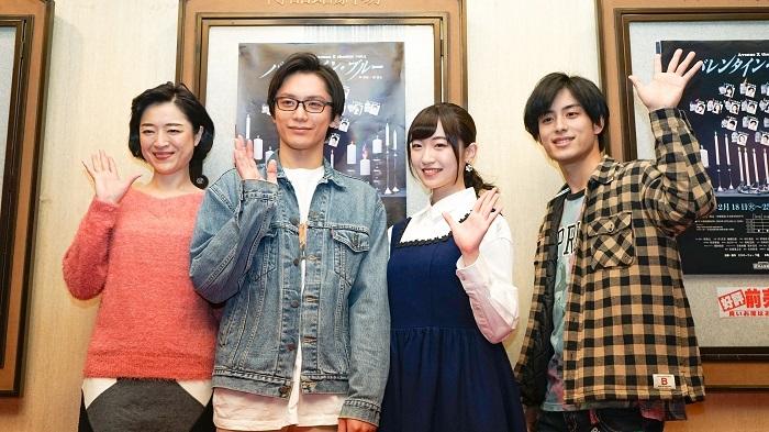 (左から)しゅはまはるみ、久保田秀敏、前島亜美、武子直輝