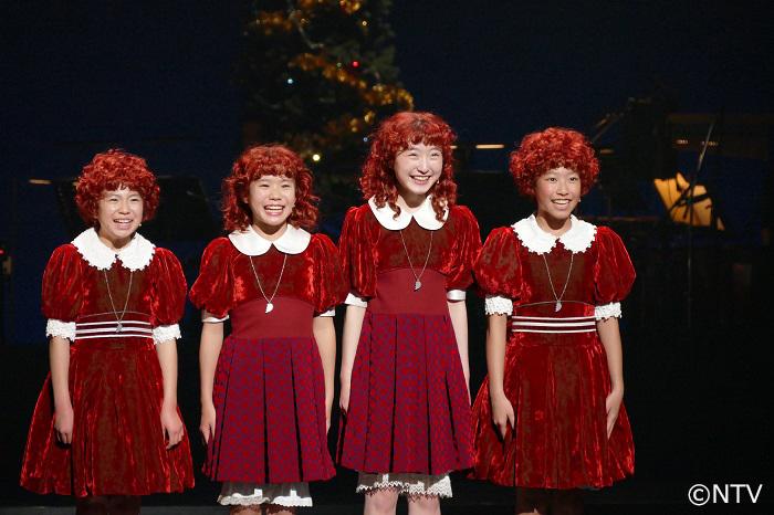4人のアニー;(左から)新井 夢乃・野村 里桜・会 百花・宮城 弥榮
