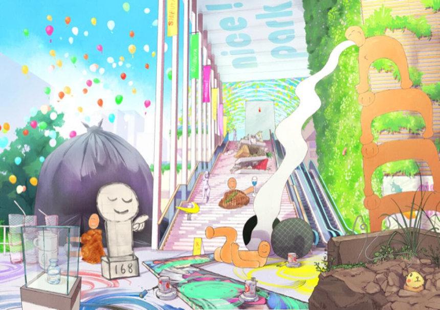 Chim↑Pom『グランドオープン』ビジュアル 画像制作協力:板垣賢司