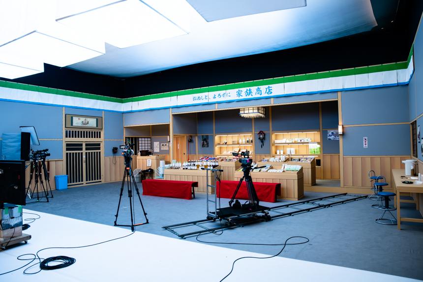 「図夢歌舞伎『弥次喜多』」収録風景。