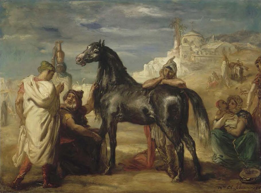 《雌馬を見せるアラブの商人》 テオドール・シャセリオー 1853年 ルーヴル美術館(リール美術館に寄託) Photo©RMN-Grand Palais / Jacques Quecq d'Henripret / distributed by AMF