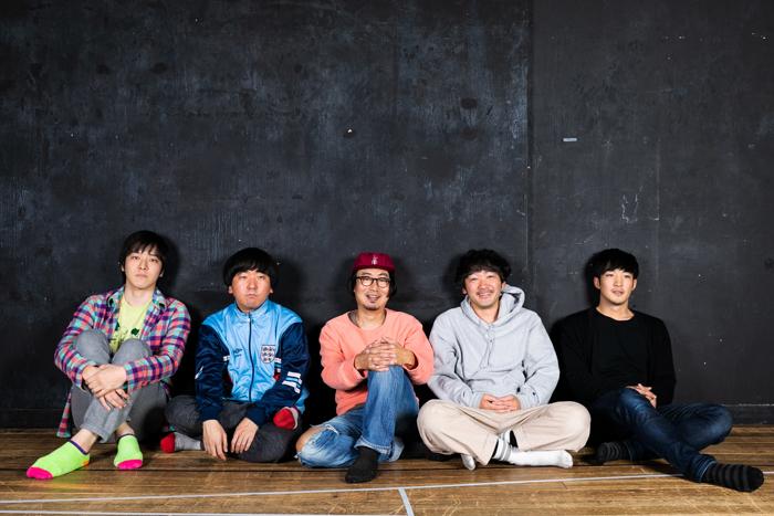 左から坂本慶介、本多力、中山祐一朗、土佐和成、森一生