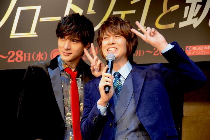 城田優と浦井健治(左から)