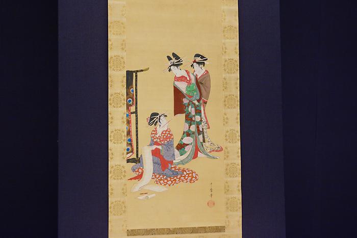 喜多川歌麿「三美人図」江戸時代 寛政年間(1789~1801)岡田美術館蔵