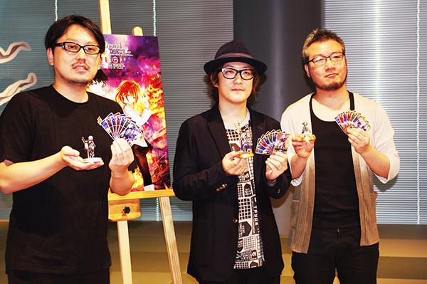左からデイライトワークス塩川洋介氏、ワンドロー木皿儀隼一氏、小宮山佳太氏 (c)DEAR SPIELE