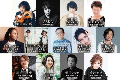 3年目を迎える『葉加瀬太郎 音楽祭』上賀茂神社と明治神宮で開催 第1弾出演アーティスト12組が発表