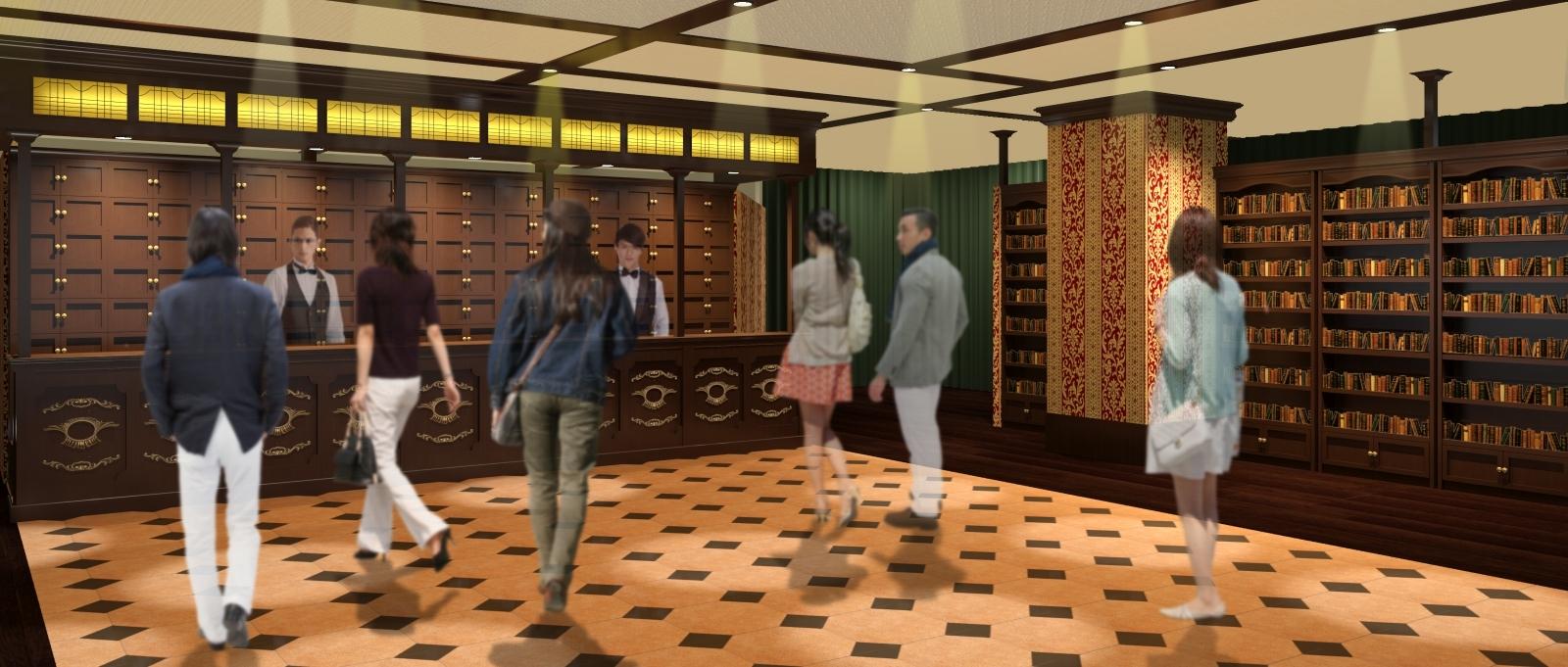 2階  リアル捜査スペース リアル捜査ゲーム「歌舞伎町 探偵セブン」