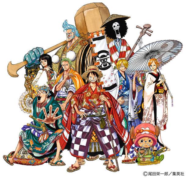 尾田栄一郎が描き下ろした「スーパー歌舞伎II(セカンド)『ワンピース』」ビジュアル。