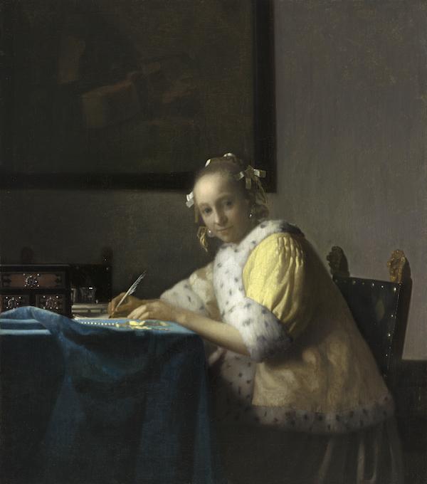 ヨハネス・フェルメール《手紙を書く女》1665年頃 ワシントン・ナショナル・ギャラリー National Gallery of Art, Washington,