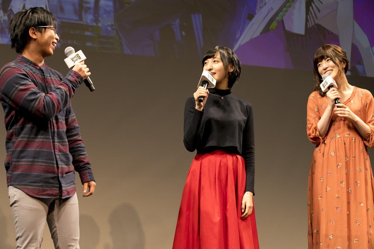 左からユウト役の柳晃平、シンジ役の佐倉綾音、レイチェル役の加隈亜衣