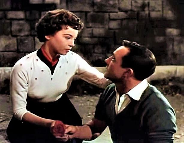 「巴里のアメリカ人」の一場面。ジーン・ケリー(右)とレスリー・キャロン