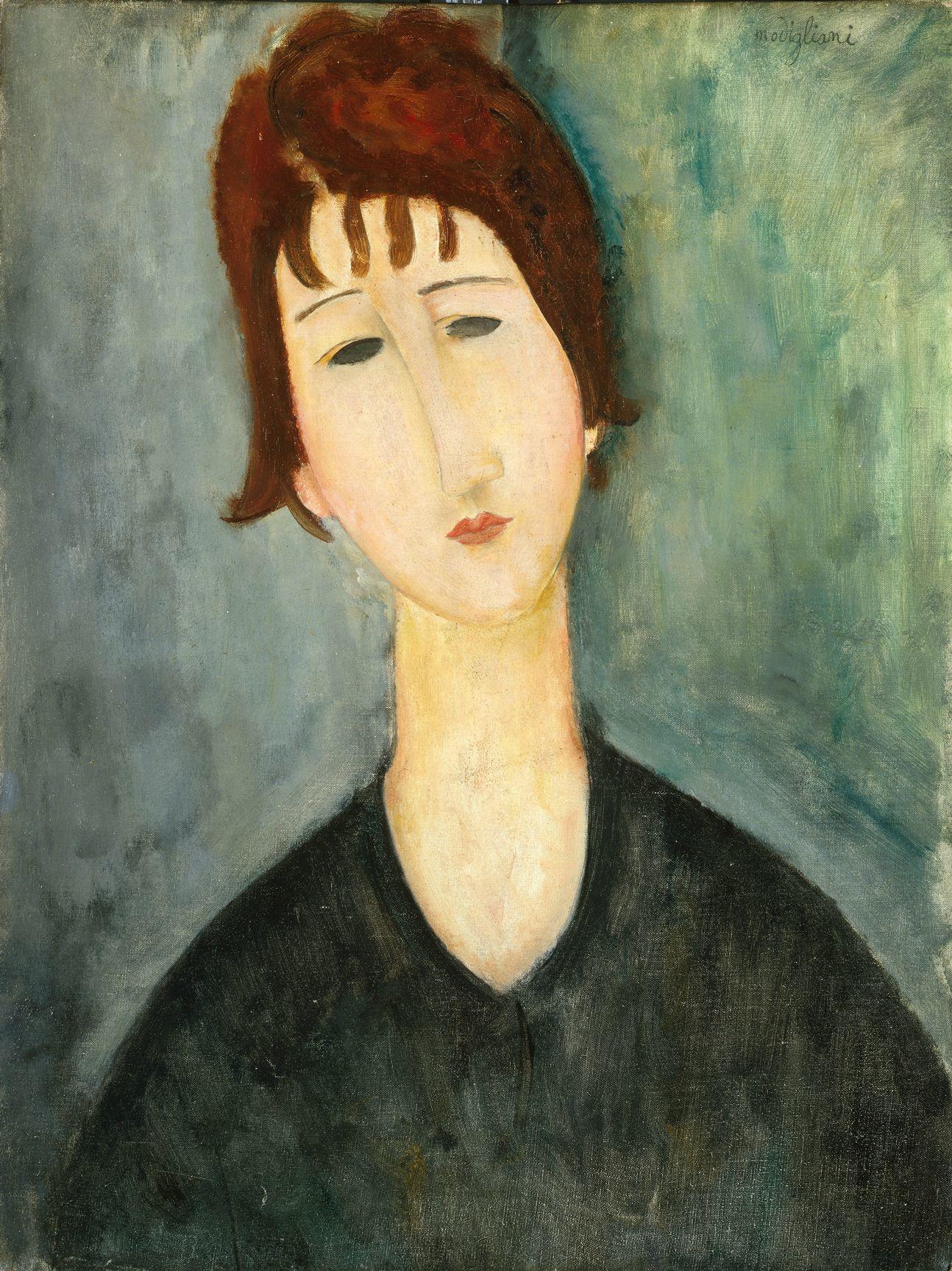 アメデオ・モディリアーニ《女の肖像》1917 -1920年 City of Detroit Purchase
