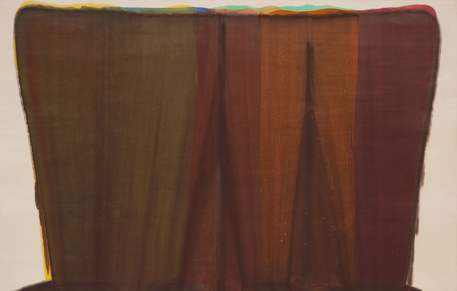 モーリス・ルイス《ダレット・ペー》1959年 アクリル、カンヴァス 滋賀県立近代美術館蔵