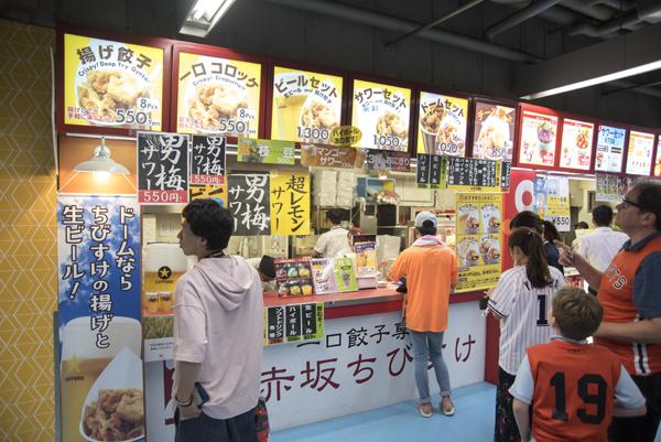 「鐵一」や「赤坂ちびすけ」など東京ドームには人気店もたくさん。