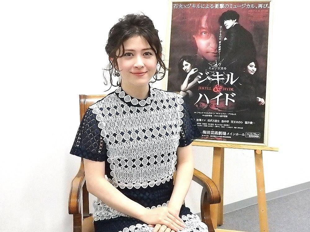 宮澤エマ『ジキル&ハイド』取材会にて(撮影/石橋法子)