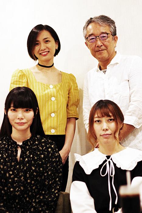(上段左から)今村沙緒里、笠松泰洋(下段左から)清水友絵、須田江梨香