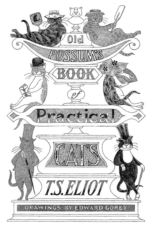 《キャッツ ポッサムおじさんの実用猫百科》1982年 表紙・原画 ペン・インク・紙 エ ドワード・ゴーリー公益信託 (C)2010 The Edward Gorey Charitable Trust