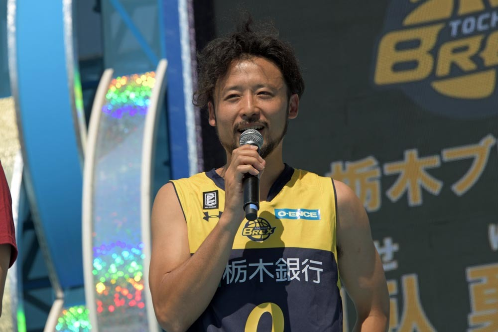 地元の利を生かし、『B.LEAGUE EARLY CUP』戴冠を宣言する、栃木ブレックスの田臥勇太