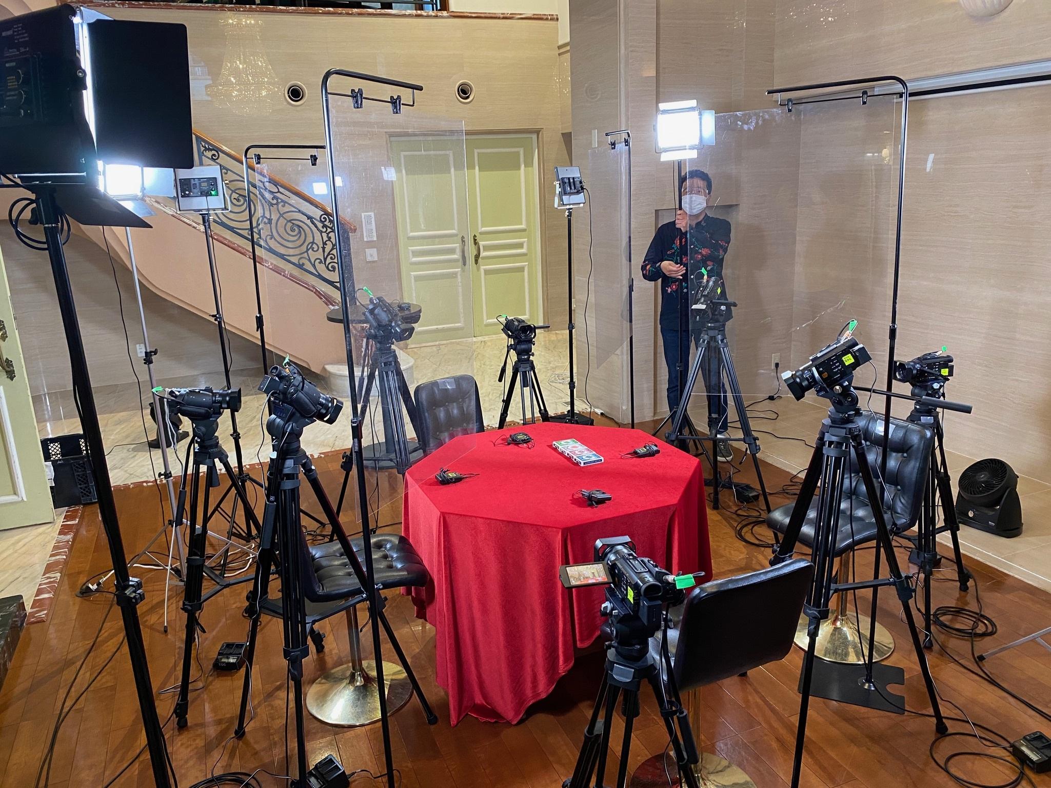 10台ものカメラで撮影