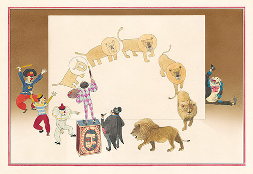 『ふしぎな さーかす』 20-21P 1971年 津和野町立安野光雅美術館蔵 (C)空想工房