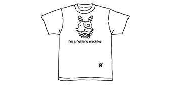 クラウドファンディングのリターンで大好評のウサコッツTシャツ (c)くぼたまこと