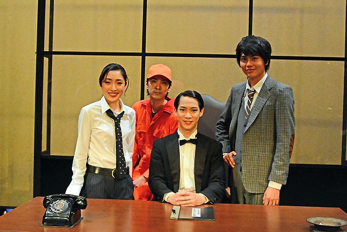 (左から)文音、黒羽麻璃央、味方良介、多和田秀弥