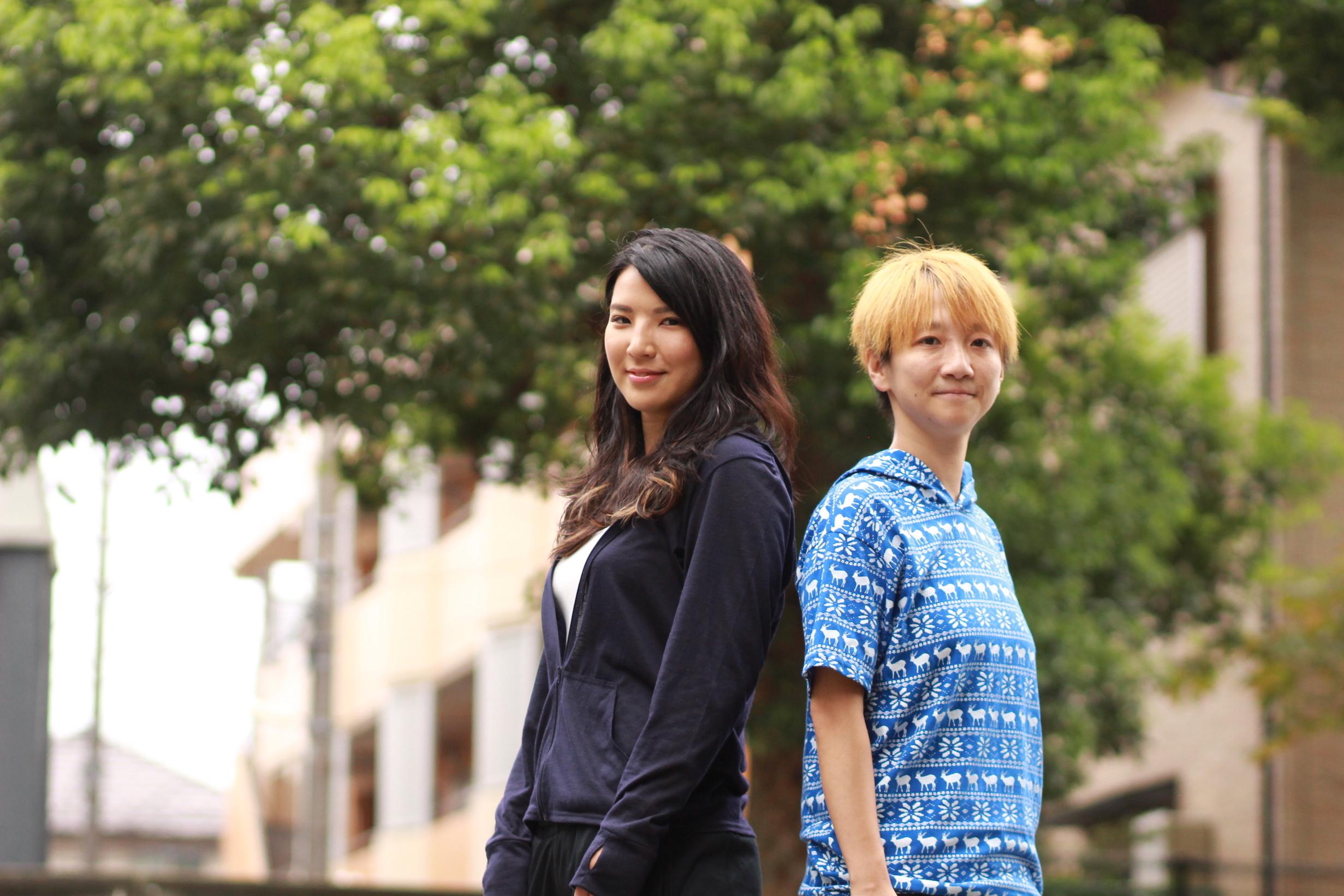 志田光(左)とMARU