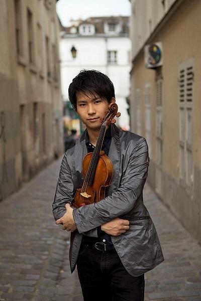 今作では独奏やピアノとの合奏も披露するヴァイオリニスト三浦文彰 (C)Kotaro Yokomizo