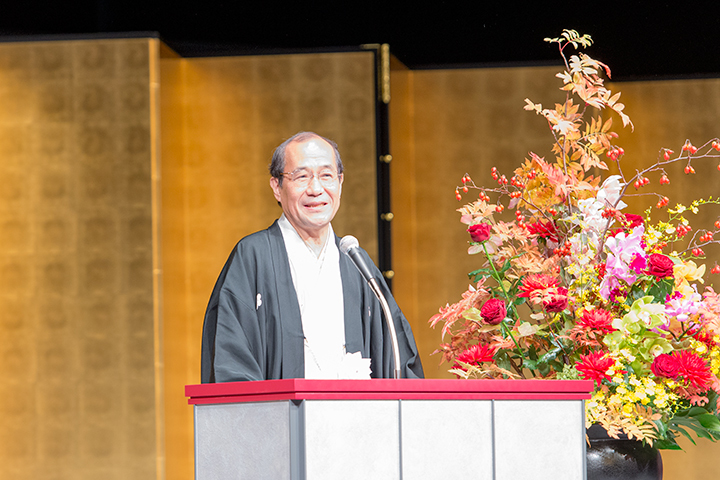 門川大作・京都市長 Photo:M.Terashi/TokyoMDE