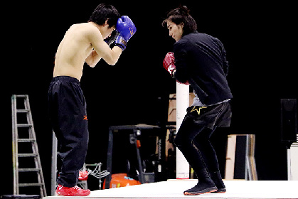 後藤恭路、松田凌らが手に汗握る白熱の試合を魅せる 舞台『はじめの一歩』稽古場レポート