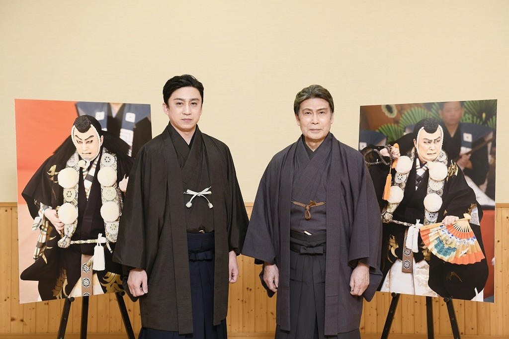 (左より)松本幸四郎、松本白鸚